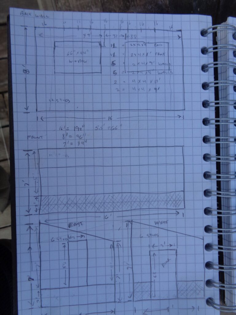 Greenhouse Exterior Dimensions Sketch